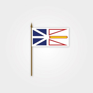 Newfoundland Flag on Stick - 4 x 6