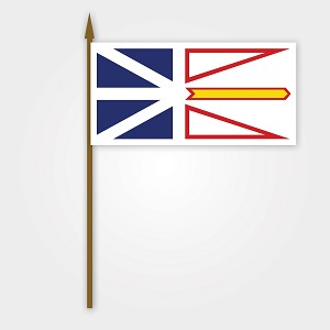 Newfoundland Flag on Stick - 12 x 18
