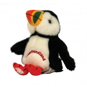 "Plush - Puffin 7"" Embroidered Newfoundland"