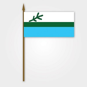 Labrador Flag on Stick - 12 x 18