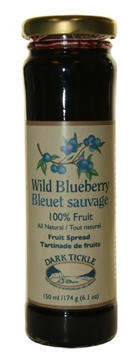 Dark Tickle - 100% Fruit Spread - Wild Blueberry - 150ml