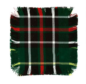 "Tartan Mug Rugs - set of 4 -  5"" x 5"""