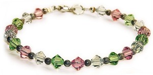 Republic of NL - Swarovski Crystal Bracelet - 7 1/2""