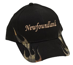 Newfoundland With Flames and Moose  - Cap - Black