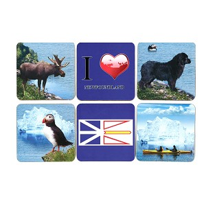 Coasters - Set of 6 assorted - Newfoundland images
