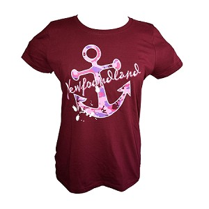 Ladies - Camo Anchor - Newfoundland - Maroon