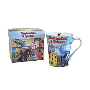 Newfoundland Watercolour Scenic Mug - Gift Box included