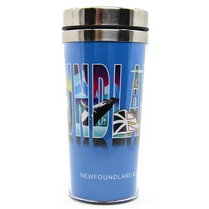Travel Mug - Newfoundland with Icons