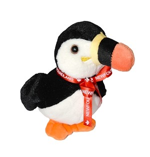 Plush - Puffin - Newfoundland Ribbon  - 8""