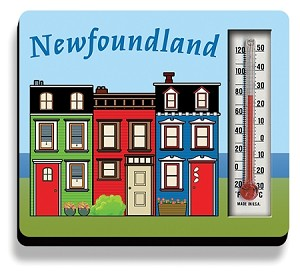 Thermometer  Magnet  - Row house - 3 x 3""