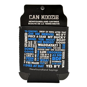 Can Koozie - Newfoundland Sayings - Can Insulator - Blue/ White