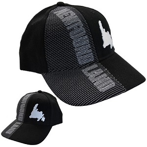 White Newfoundland  Map - Cap  - Black