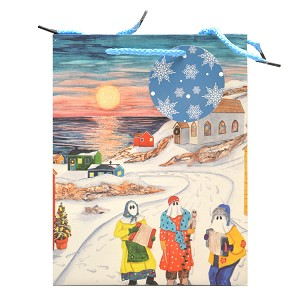 "Gift Bag  - The Mummer's are Coming - Medium - 9""x 4""x7"""