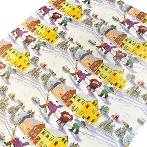 Gift Wrap - Pk of 6 Sheets - Newfoundland Mummer in winter