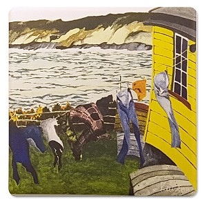 Keli -Ann Pye - Beshara - Coaster - 'Blowing in the Wind' - 4' x 4'