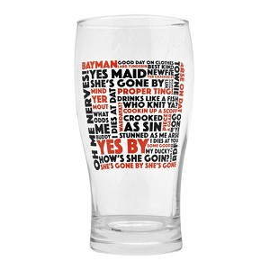 Beer Glass - Newfoundland Sayings - Red and Black