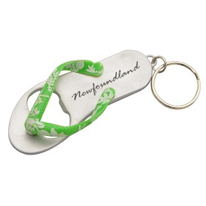 Flip Flop Keychain bottle opener with Newfoundland  - Sold Separately -   4""