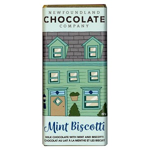 Newfoundland Chocolate Bar - Mint Biscotti - 42g