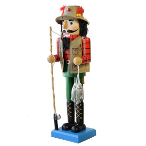 Nutcracker - Fisherman with Trout  - 14""