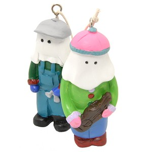 "Ornaments - Mummers playing instruments - 2.5"" - Pkg 2"