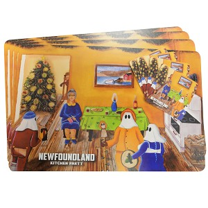 Newfoundland - Kitchen Party - Vinyl Place Mats with Matching Coasters - 8 Piece Set