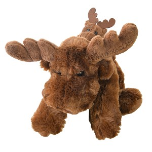 Plush - Moose with attached Baby - 14""