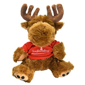 Plush - Moose - Red Sweater -  Newfoundland  - 13""