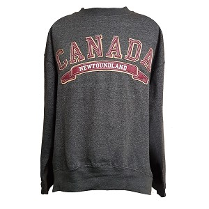 Sweat Shirt - Newfoundland Canada Banner