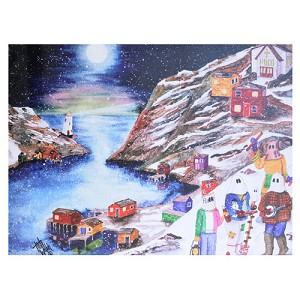 "Corkback - Placemat  - Mummers in the Cove  - 10"" x 13"""