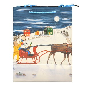 "Gift Bag - Mummers Sleigh Ride - Medium - 9"" x 4"" x 7"""