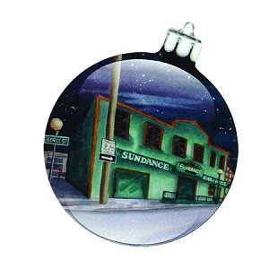 "Hand Painted Ornament - ""George Street Newfoundland"" 3"" - With Velvet Gift Box"