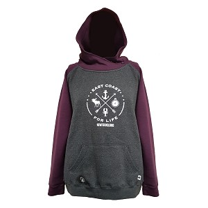Hoodie - East Coast For Life - Grey/Purple