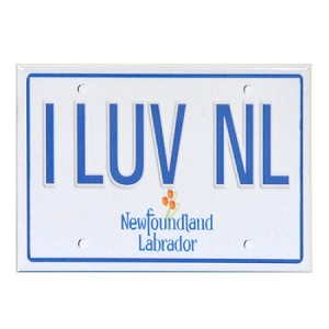 "Magnet - License Plate - I LUV NL - 3 1/2"" x 2 1/2"""
