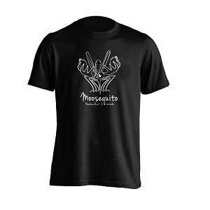 Mens - T Shirt - Moosequito - Newfoundland  & Labrador - Black