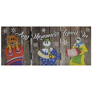 "Wooden - Light -up Mummers Ornament - Any Mummers Lowed In - 18"" x 8"""