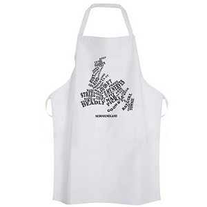 Apron - Newfoundland  Sayings - Map - White