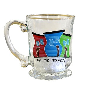 Beer Stein - Hand Painted - Jelly Bean Row - Oh Me Nerves!