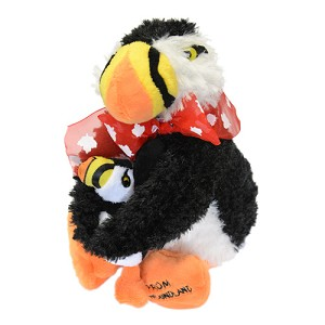 Plush - Puffin Hugs with Baby - 9""