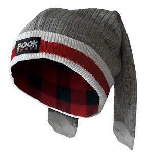 Pook - Wool Sock - Infant Toque - Red Plaid Lining