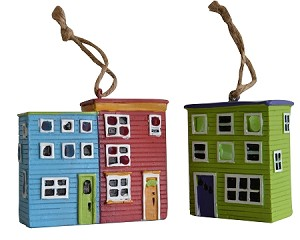 Ornament - Light-up - Rowhouses - 3 Pk
