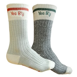 Downhome Lumberjack Ladies Socks- Yes B'y - Size  6-10