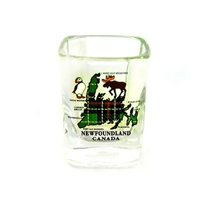 Square Shot Glass - Newfoundland Tartan