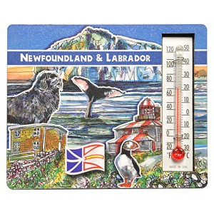 "Thermometer Magnet - Newfoundland and Labrador - 3"" x 3.5"""