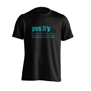 "Adult - ""Yes B'y ""- Black"