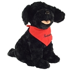 Plush - Newfoundland  Dog w/ Bandana 10