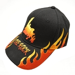 The Rock with Flames Cap - Black