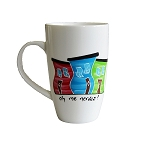 Hand Painted - Jelly Bean Row - Oh Me Nerves ! - Mug