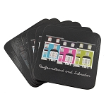 Newfoundland and Labrador -  Row House Coasters - Set of Six