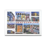 Row Houses of Newfoundland Magnet - Multiview Collage