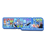 Newfoundland and Labrador Rubber Text Magnet with Icons